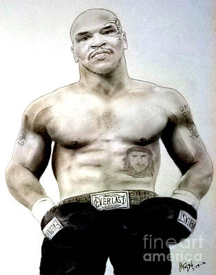 Pastel - Champion Boxer And Actor Mike Tyson by Jim Fitzpatrick