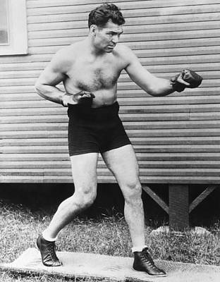 Champion Boxer Jack Dempsey Art Print by Underwood Archives