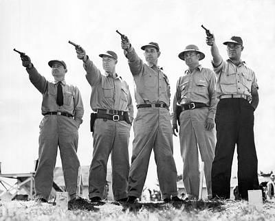 Champion Police Shooters Print by Underwood Archives
