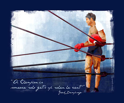 Champions Art Print by Jessica Woolrich