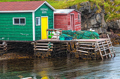 Photograph - Champney's West Fishing Wharf by Perla Copernik