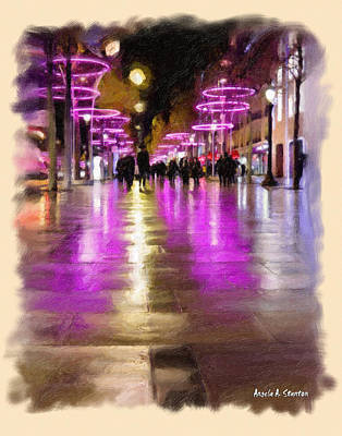 Champs Elysees In Pink Art Print by Angela A Stanton