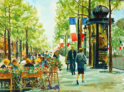 Champs Elysees Painting - Champs Elysees by Marilynne Bradley