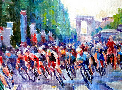 Cycles Painting - Champs- Elyse'es by Mark Hartung
