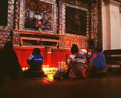 Photograph - Chamula Women Pray by Robert  Rodvik