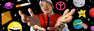 Photograph - Chance The Rapper Digital Painting by Liam Moher