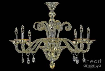 Photograph - Chandalier by Donna Bentley