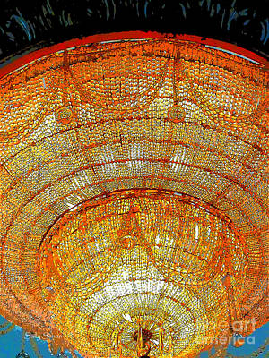 Photograph - Chandelier 1 by Sally Simon