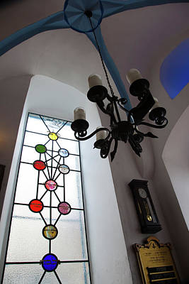 Synagogue Photograph - Chandelier At A Synagogue, Ari by Panoramic Images