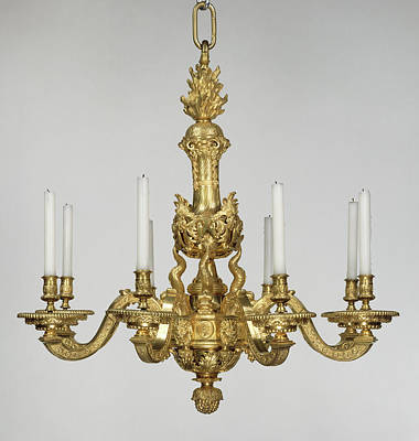 Chandelier Attributed To André-charles Boulle Art Print
