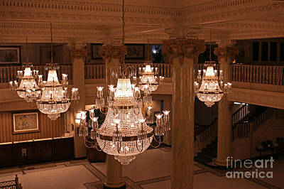 Victorian Photograph - Chandelier Glow by Cheryl Aguiar