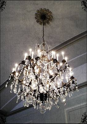 Photograph - Chandelier by Marianna Mills