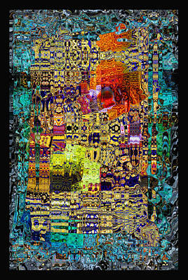 Photograph - Chandelier Mosaic 1 by Kate Word