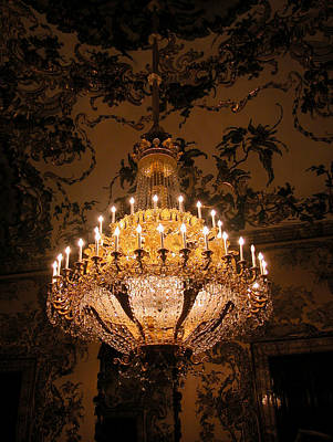 Photograph - Chandelier Palacio Real by Michael Kirk