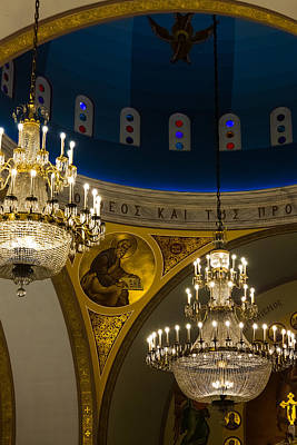 Photograph - Chandeliers And Arches by Ed Gleichman