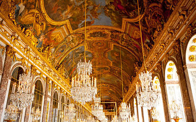 Photograph - Chandeliers And Ceiling Of Versailles by Anthony Doudt