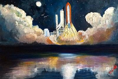 Painting - Chandra Launch  by Tina Swindell