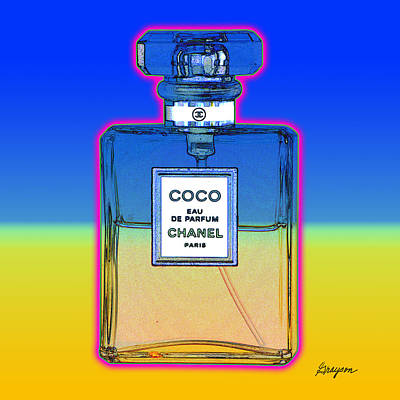 Chanel Bottle 1 Art Print