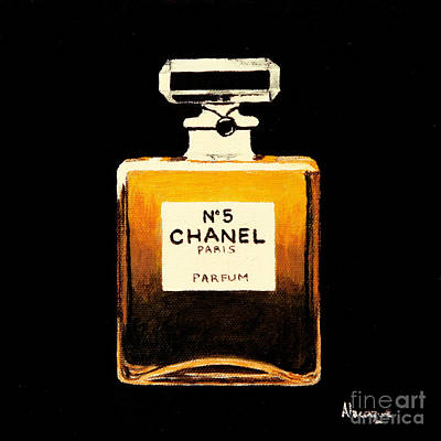 Bottles Painting - Chanel No. 5 by Alacoque Doyle