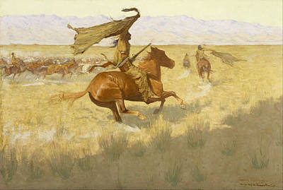 Change Painting - Change Of Ownership by Frederic Remington