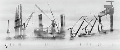 Cranes Photograph - Change Of Shift by Margit Lisa Roeder
