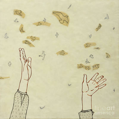 Hands Painting - Change You Can Believe In by Andrea Benson