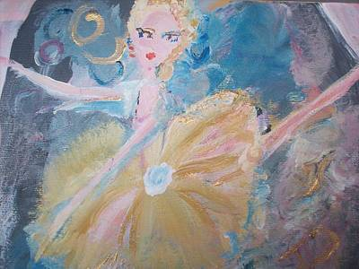 Solo Dancer Painting - Changement Ballet by Judith Desrosiers