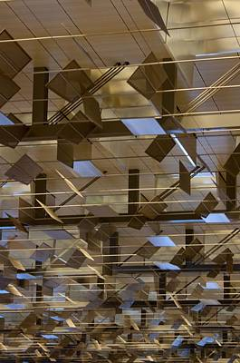 Airconditioned Photograph - Changi Airport Roof Pattern by Frank Gaertner