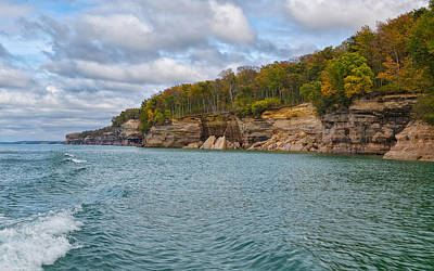 Photograph - Changing Faces At Pictured Rocks National Seashore by John M Bailey