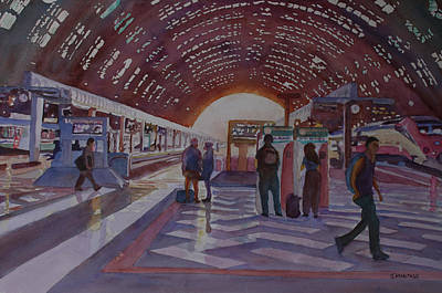 Platform Painting - Changing In Milan by Jenny Armitage