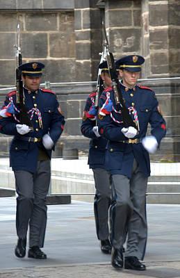 Photograph - Changing Of Guard Prague by Caroline Stella