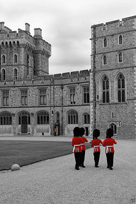 Changing Of The Guard At Windsor Castle Art Print by Lisa Knechtel