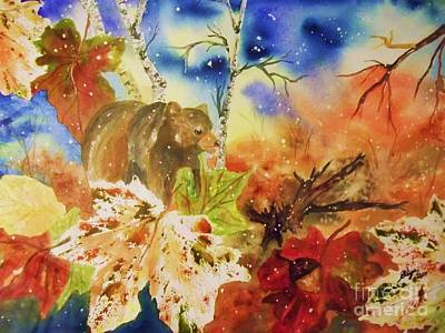 Maple Leaf Art Painting - Changing Of The Seasons by Ellen Levinson