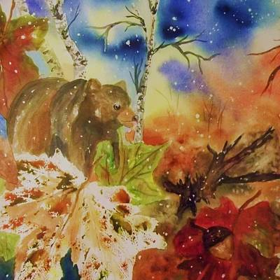 Painting - Changing Of The Seasons - Square Format by Ellen Levinson