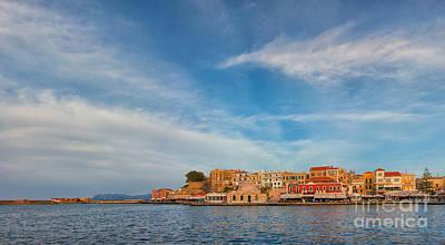 Chania Photograph - Chania Venetia Harbour by Gabriela Insuratelu