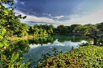 Photograph - Chankanaab Lagoon Reflections by Adam Jewell