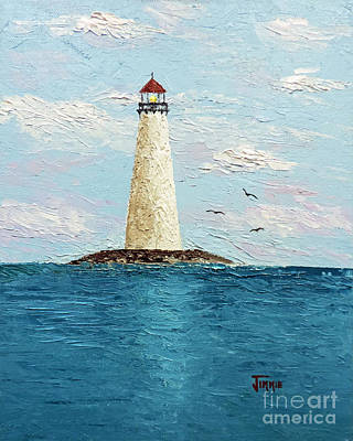 Painting - Channel Lighthouse by Jimmie Bartlett