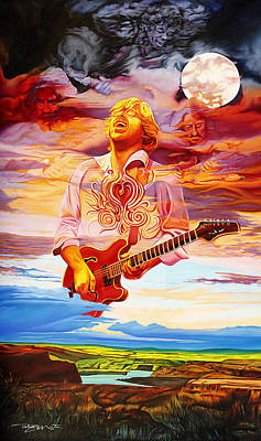 Jerry Garcia Painting - Channeling The Cosmic Goo At The Gorge by Joshua Morton