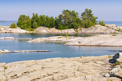 Photograph - Channels And Islands In Georgian Bay by Les Palenik