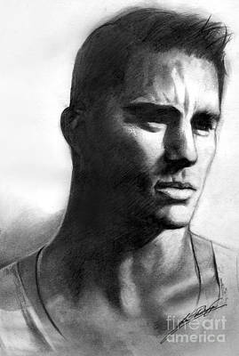 Drawing - Channing Tatum by Lin Petershagen