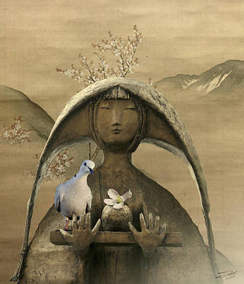 Digital Art - Chanoyu And Dove by IM Spadecaller