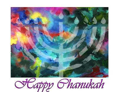 Sukkot Painting - Chanukah Universe by Dawnstarstudios