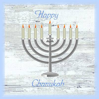 Digital Art - Chanukah Country Style by Florene Welebny