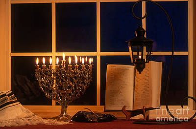 Judaica Photograph - Chanukah Menorah by Alan and Sandy Carey
