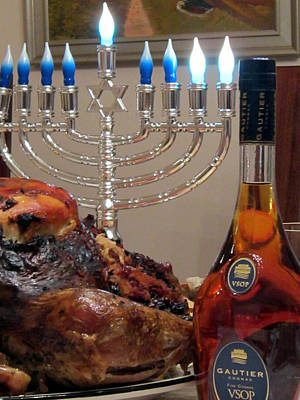 Photograph - Chanukah Thanksgiving Celebration by Vadim Levin