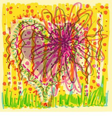 Childlike Drawing - Chaos Is Beauty by Donniece Smith