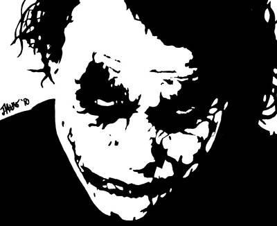 Heath Ledger Wall Art - Digital Art - Chaos by Jeremy Moore