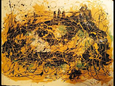 Pollack Mixed Media - Chaos Of The Nite by Lowkey  Luciano