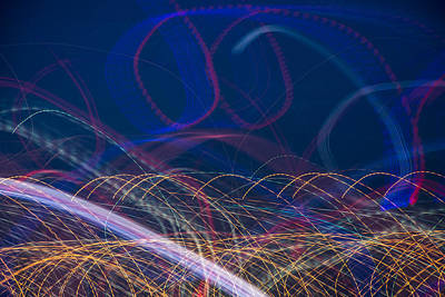 Light Paint Photograph - Chaos by Shannon Workman