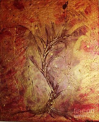 Deforestation Painting - Chaos - The Bleeding Tree  by Jessie Art